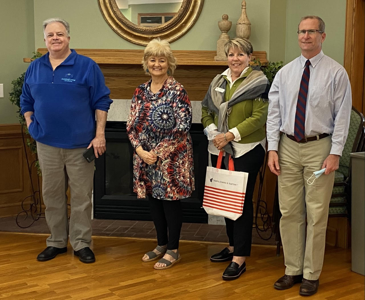 L to R: Mike Hartmann with Assisted Living Locators, Barbara Mullins, Sue Fryt with the Elder Law Group of Cranfill Sumner LLP, and Wes Davis, Executive Director of Pender Adult Services